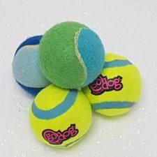 Pack 4 Mini Pelotas de Tenis, 5 cm de diámetro.