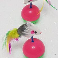 Porfiados Bola con Ratón, 6 cm de diámetro, 12 cm de largo.